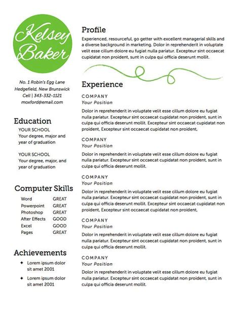 find cover letter for baker resume template the baker resume design instant by