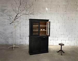 Bibliothèque Petite Profondeur : ancienne petite biblioth que patine noire en pin ~ Teatrodelosmanantiales.com Idées de Décoration