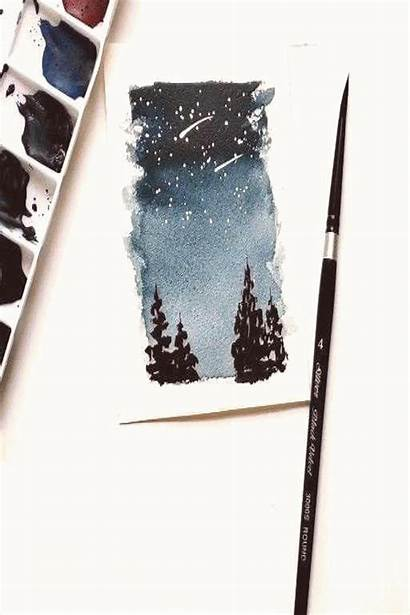 Sky Night Simple Painting Easy Technique Drawing