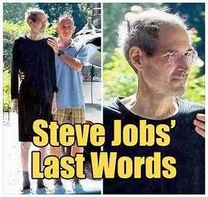 Steve Jobs' Last Words Debunked - The Rojak Pot