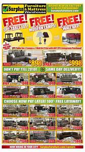 Surplus furniture and mattress warehouse canada flyers for Furniture and mattress warehouse edmonton