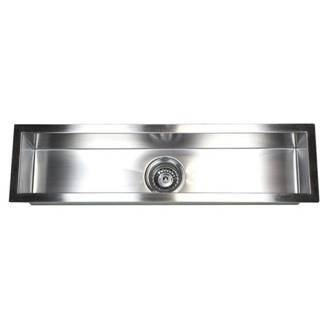 narrow sinks kitchen 32 inch stainless steel undermount single bowl kitchen 1043