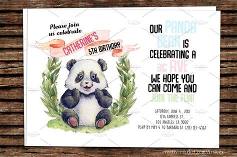 diy panda printable invitation invitation templates