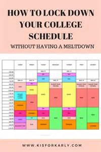 College Schedule Examples