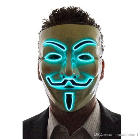 light  led mask   vendetta anonymous guy fawkes