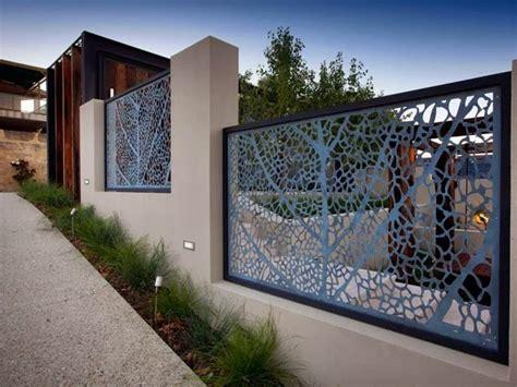 decorative fence  modern home design  ideas