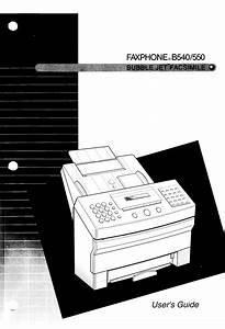 Faxphone B540 Manuals