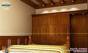 master bedroom designs kerala home design and floor plans With wardrobe interior decoration in house