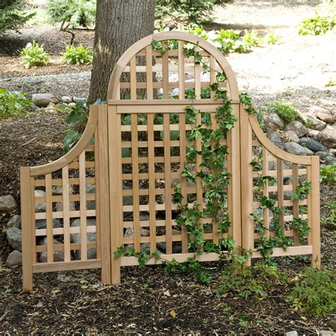 Outside Trellis by Andover 5 Ft Cedar Wood Arch Trellis Outdoor Privacy