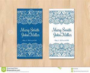 wedding invitation card template stock vector With vintage wedding invitation with lace free vector