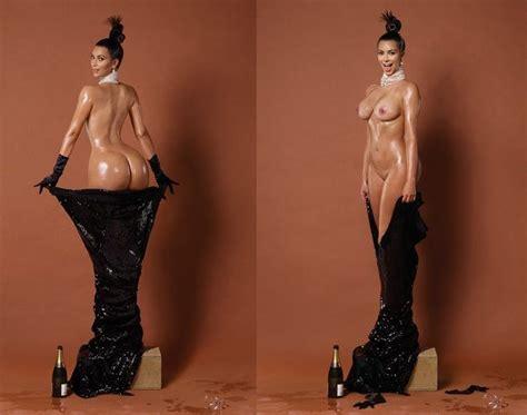 continúa la polémica con las fotos de kim kardashian aparece completamente desnuda en paper