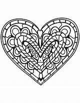 Coloring Heart Hearts Pages Adults Zentangle Printable Clipart Adult Drawing Paper sketch template