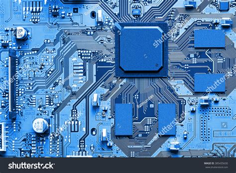 Electronic Circuit Board Close Stock Photo