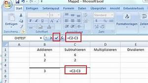 Excel Formeln Automatisch Berechnen : excel formeln erste berechnungen excel lernen ~ Themetempest.com Abrechnung