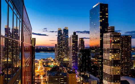 evening city view  skyscraper nyc hd wallpaper