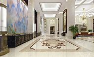 Marble Floor Living Room