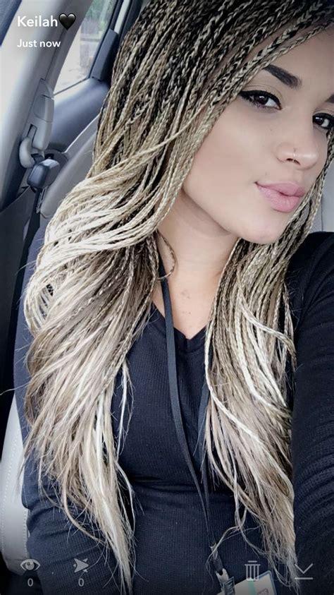 blonde blended singlesbraids  african braids  el