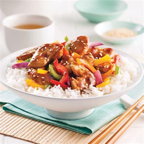 poulet cuisiné poulet teriyaki et légumes sautés recettes cuisine et
