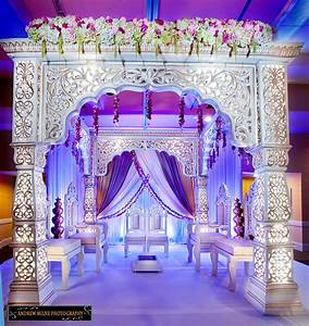 mandap with beautiful purple rustic draping indian With indian wedding mandap decoration pictures