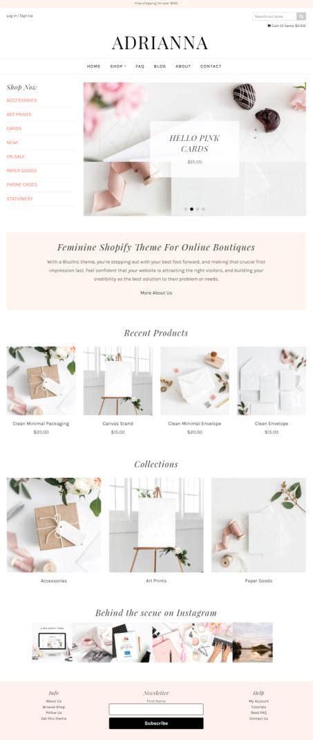 adriana shopify review bluchic ecommerce theme worth