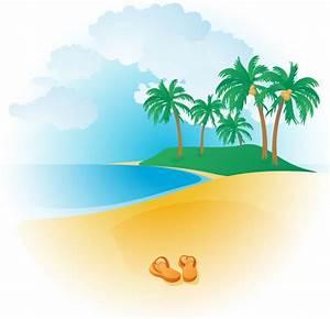 Tropical beach clipart free images - Clipartix