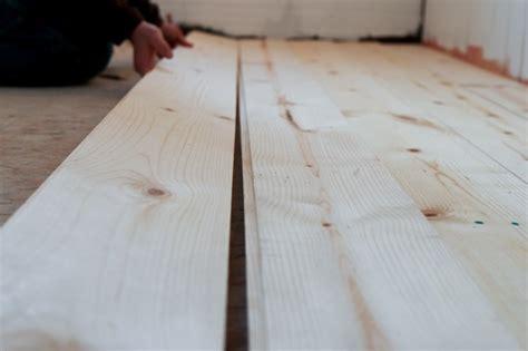Shiplap Wood Flooring by Diy Shiplap Pine Wood Floors Bathroom Makeover Progress