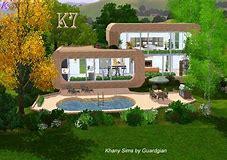 HD wallpapers plan maison moderne sims 2 ...