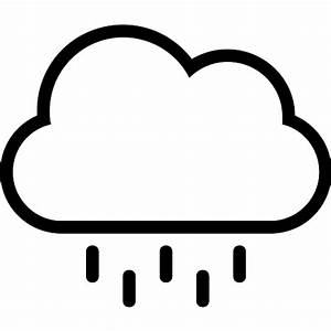 Rain cloud stroke weather symbol - Free weather icons