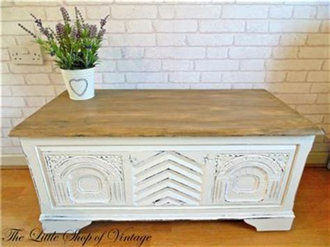 shabby chic white blanket box shabby chic ottoman trunk chest blanket toy box coffee table storage old white ebay