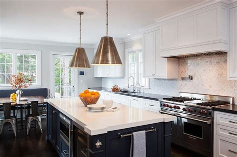 Blue Kitchen Island With White Quartz Countertop Vacation Home Builders Rentals Florida Gulf Coast Storage For Small Homes San Clemente Rental Design App Cheats Napa In Poconos Lake Mead