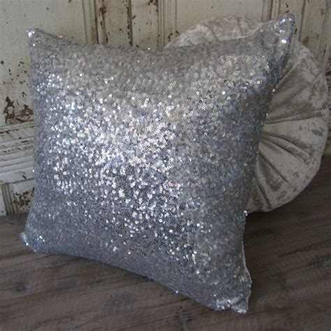 Sparkly Pillows by Exquisite Sparkly Silver Sequins Cushion Cover Home Decor