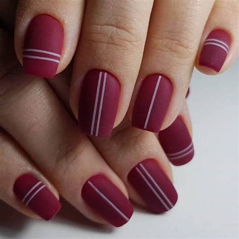 sultry burgundy nail ideas  bring    sexy
