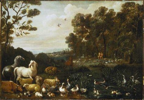 Der Garten Eden  Lambert De Hondt Als Kunstdruck Oder