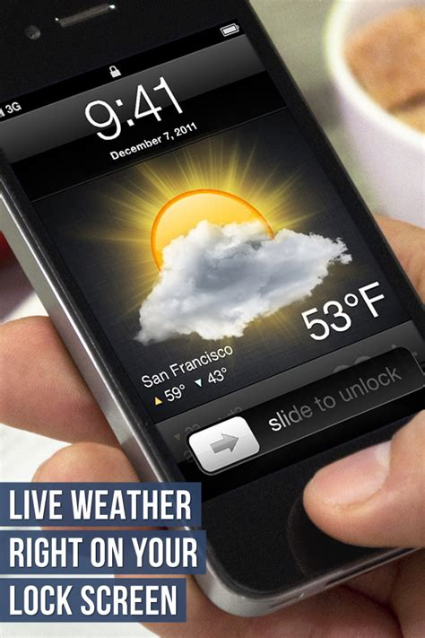 weather on iphone lock screen lock screen weather utilities weather free app for iphone