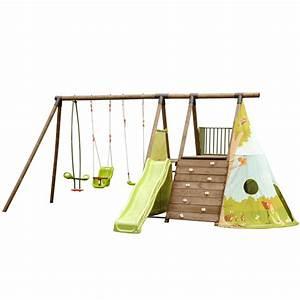 Tipi Enfant Exterieur : station de jeux en pin pour enfants 5 agr s tipi ~ Teatrodelosmanantiales.com Idées de Décoration