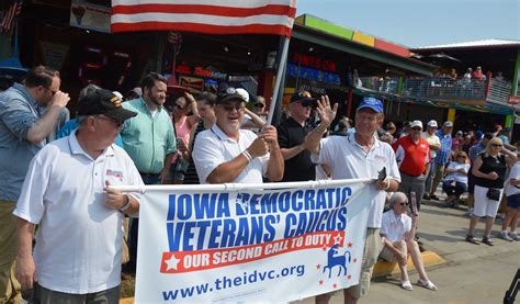 democratic veterans group booted state fair veterans parade iowa