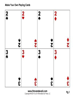 printable playing cards  writings  essays corner