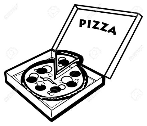 pizza clipart black and white pizza black and white clip