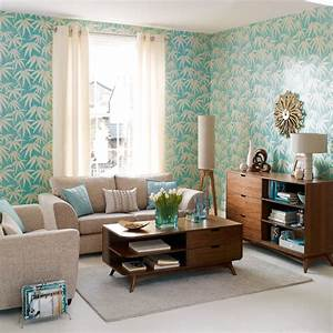 Bold wallpaper living room rooms decorating