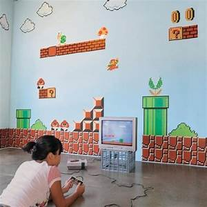 novelty home decor that will wow your guests With awesome mario brothers wall decals