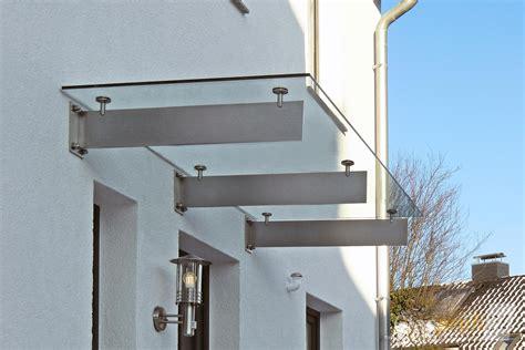 vordach glas edelstahl glas vordach spada mit individuellen edelstahl tr 228 gern