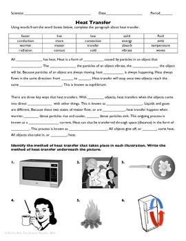 heat transfer practice worksheet heat transfer worksheets heat transfer science worksheets