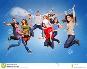 Happy Jumping Teenagers Royalty Free Stock Images - Image ...