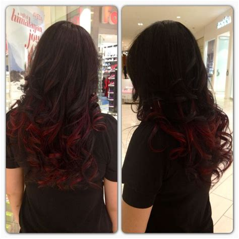 Black Hair With Brown Tips by Brown With Cherry Tips Hair