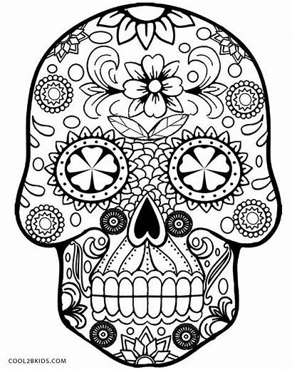 Coloring Pages Skull Skulls Printable