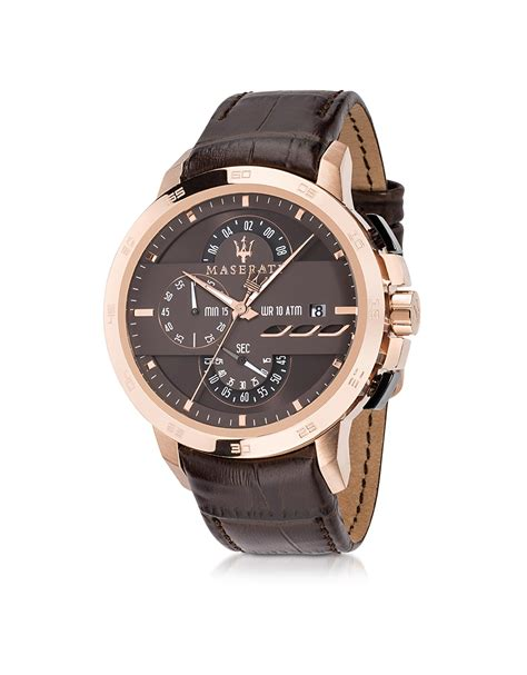 Maserati Ingegno Rose Gold Tone Stainless Steel Case And
