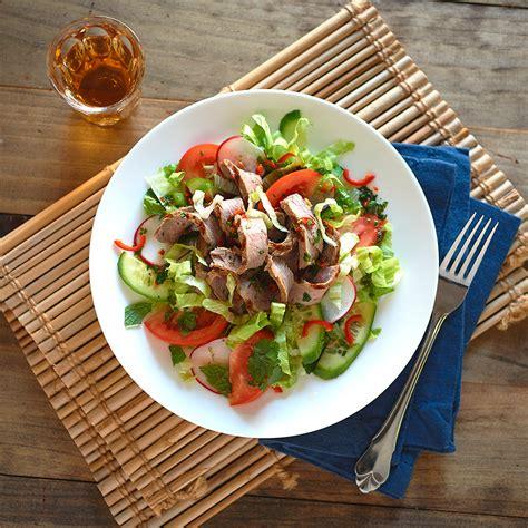 thai beef salad healthier happier