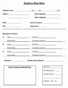Employee information sheet job information and business for New job documents required