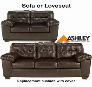 ashleyr alliston chocolate replacement cushion and cover With ashley furniture sofa cushion covers