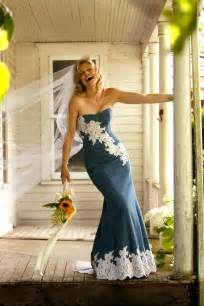 denim and lace wedding dress handmade denim wedding dress by vittoria custommade
